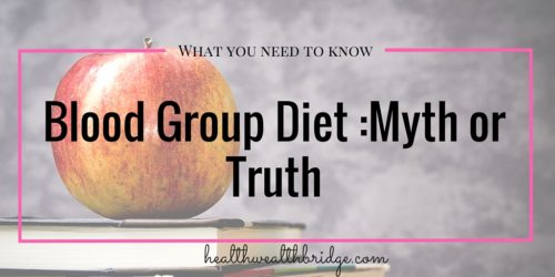 What you need to know about blood group diet:Myth or Truth
